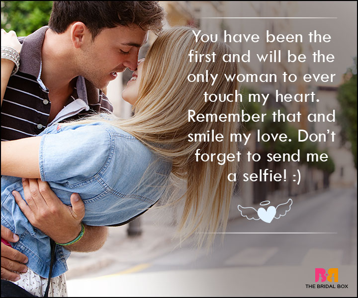 Love SMS For Wife - You Have Been The First