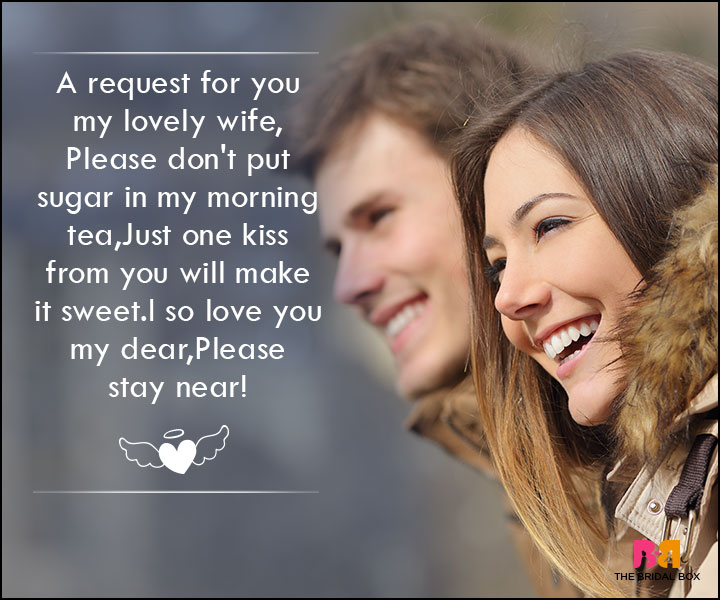 Love SMS For Wife - A Request For You