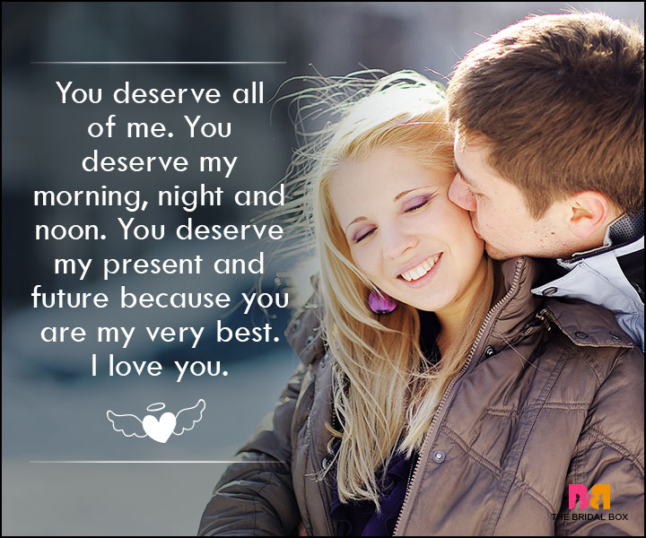 Love SMS For Wife - You Deserve All Of Me