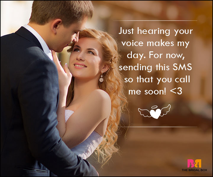 Love SMS For Wife - Just Hearing Your Voice