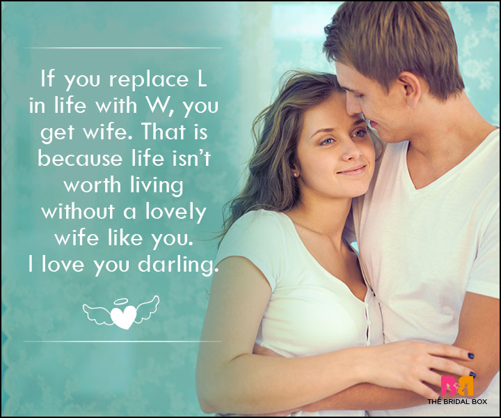 Love SMS For Wife - If You Replace L With W