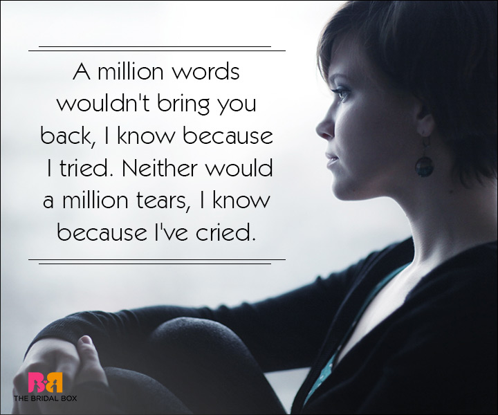 Sad Love SMS Messages - A Million Words
