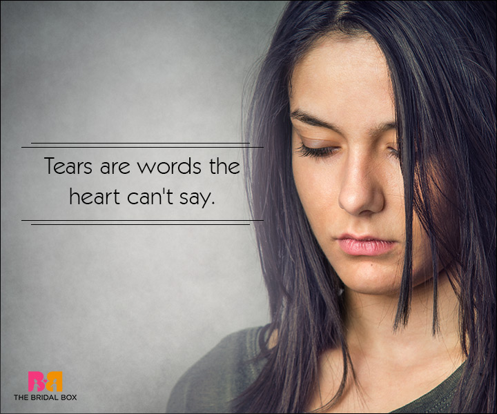 Sad Love SMS Messages - Tears Are Words