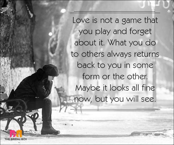 Sad Love SMS Messages - Love Is Not A Game
