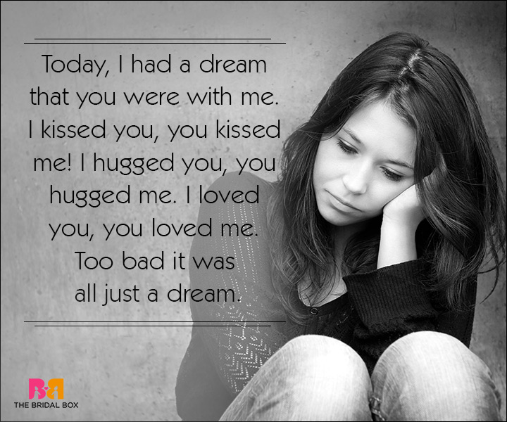 Sad Love SMS Messages - Too Bad It Was All A Dream