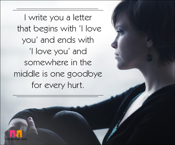 Sad Love SMS Messages - Somewhere In The Middle
