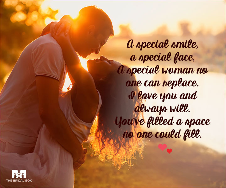 Romantic Love SMS For Girlfriend - A Special Face