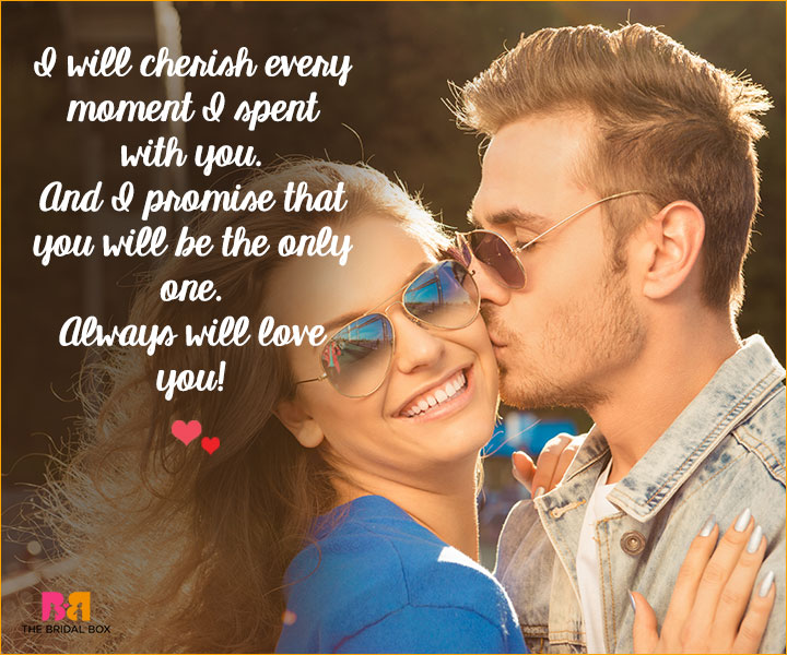 Romantic Love SMS For Girlfriend - I Will Cherish