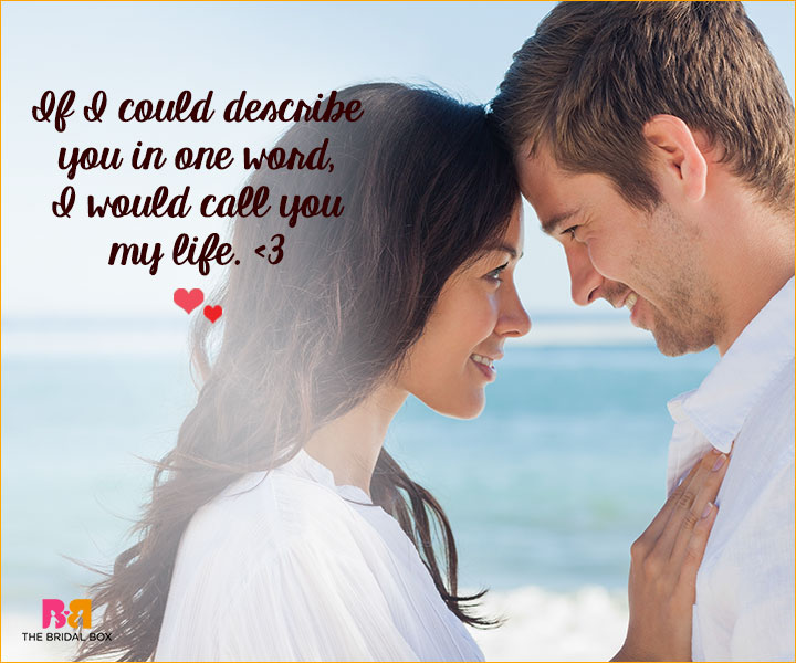 Romantic Love SMS For Girlfriend - In One Word