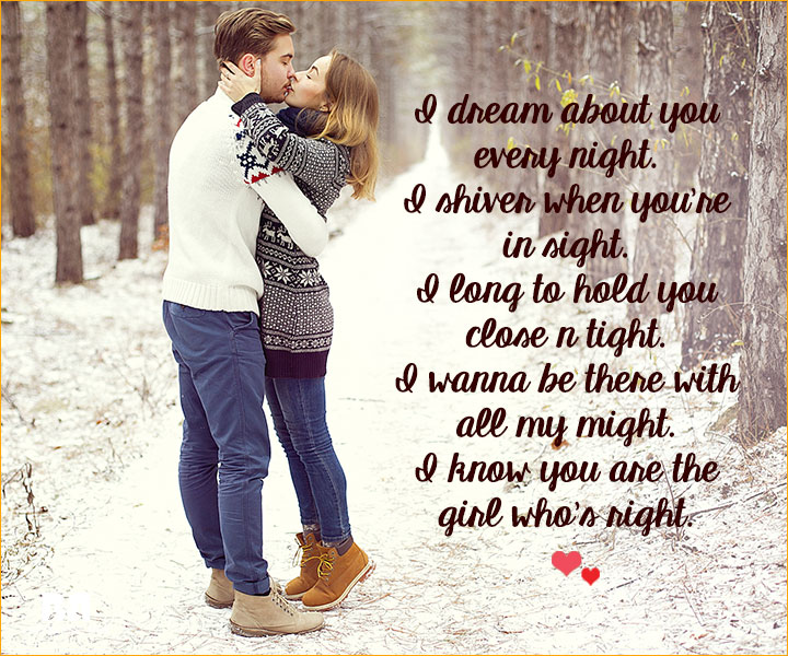 Romantic Love SMS For Girlfriend - Shiver