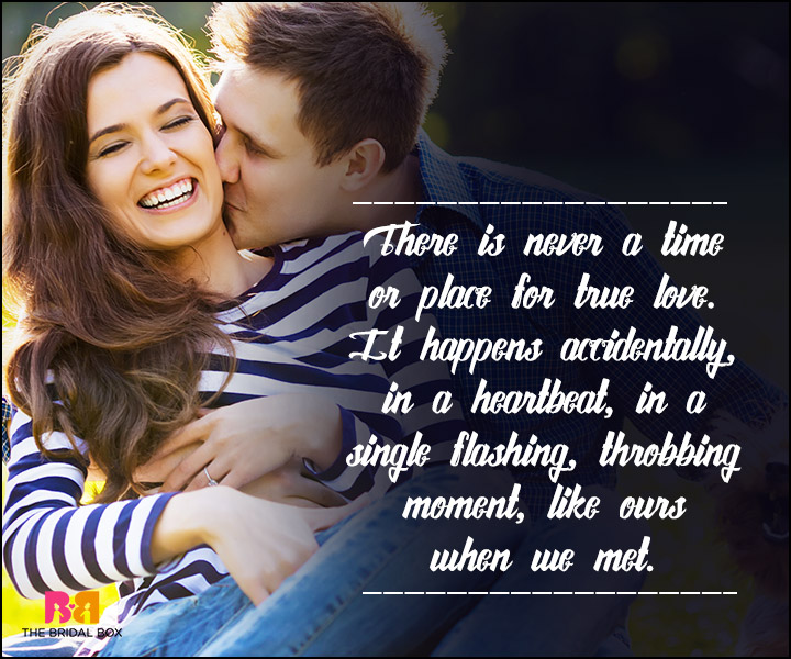 True Love SMS - Never A Time Or A Place