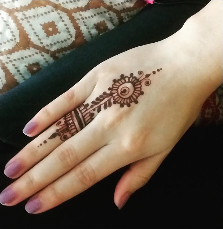 Ring Mehndi Designs - Arabic Work For Fingers