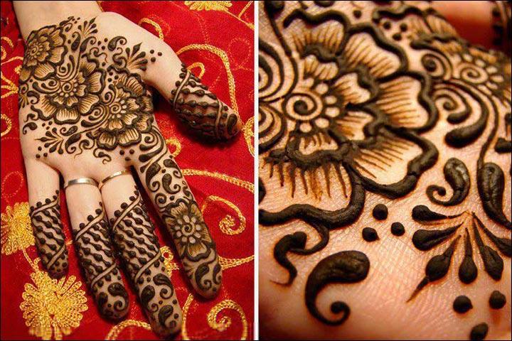 Arabic-With-A-Twist-Pakistani Mehndi Designs