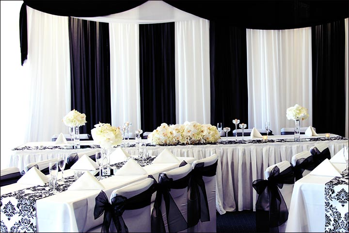 Wedding Backdrop Ideas - Black And White