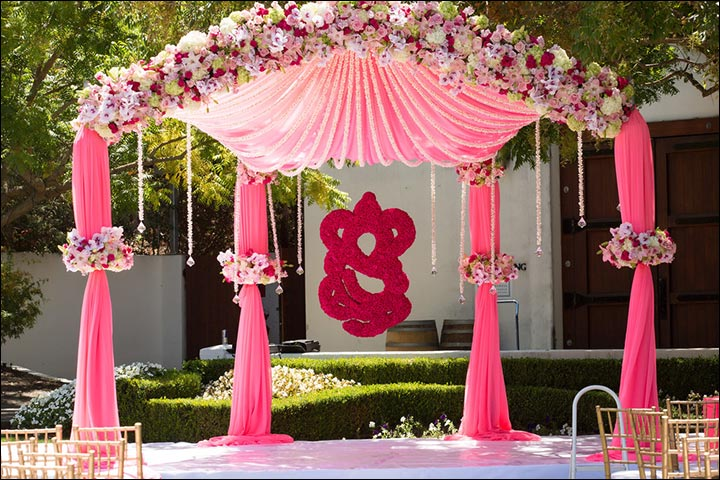 Wedding Arch Decorations - Blush Ganesha Arch