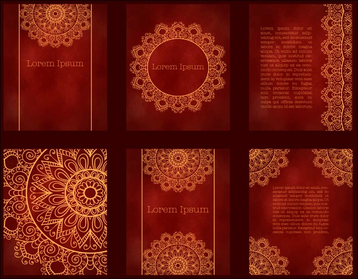 Wedding Invitation Background   Classic Red