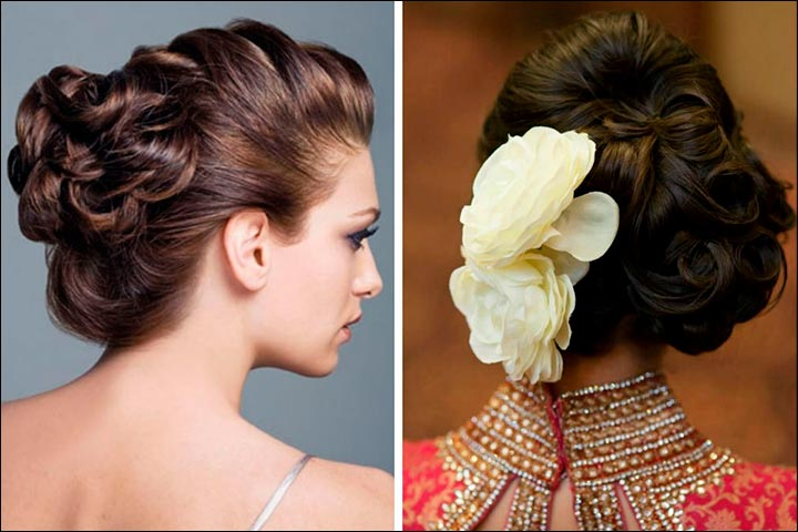 Bridal Hairstyles For Medium Hair - Curled Updo