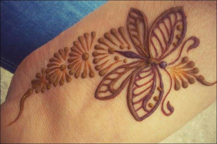 Butterfly Mehndi Designs - Cute Butterfly Henna Tattoo