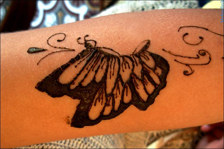 Butterfly Mehndi Designs - Cute Butterfly Mehndi Design