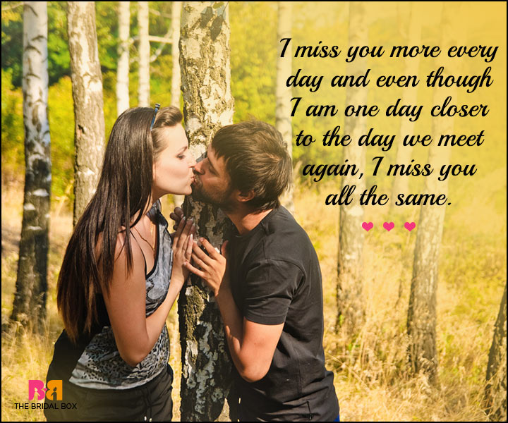 Cute Love SMS - I Miss You