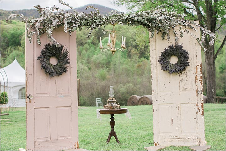 Wedding Arch Decorations - DIY Vintage Door Wedding Arch