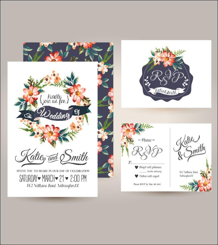 Wedding Invitation Background - Daisy Flowers