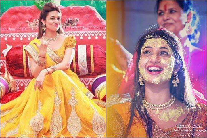 Divyanka At Her Haldi And Mehndi Ceremony