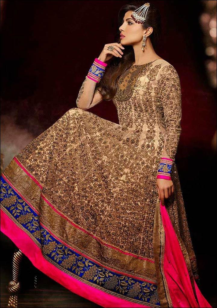 Kurti Designs - Floor Length Gown Style Kurti