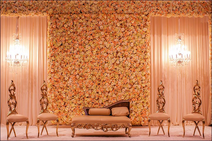 Wedding backdrops 25 stage sets for a fairy tale wedding for Background decoration images