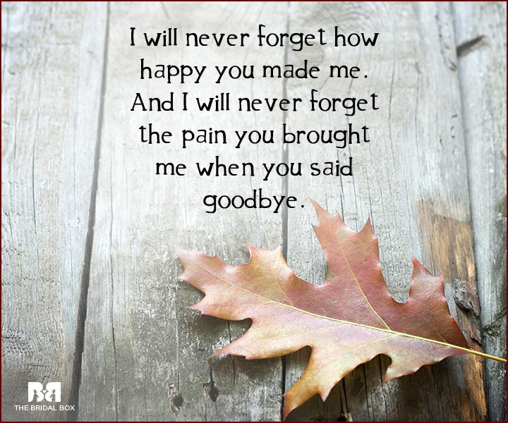 Forget Love Quotes - I Will Never Forget