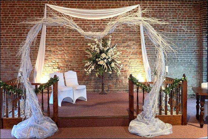 Wedding Arch Decorations - Glitter Twig Arch