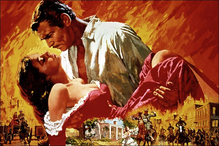Hollywood Love Story Movies - Gone With The Wind