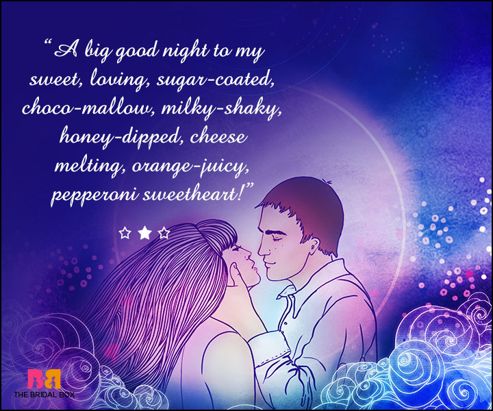 Good Night Love SMS For Girlfriend - Pepperoni Sweetheart