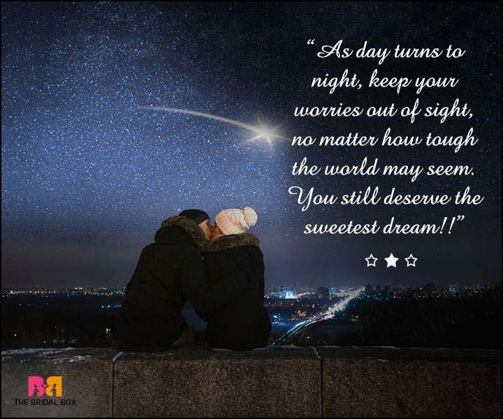 Good Night Love SMS For Girlfriend - As The Day Turns To Night