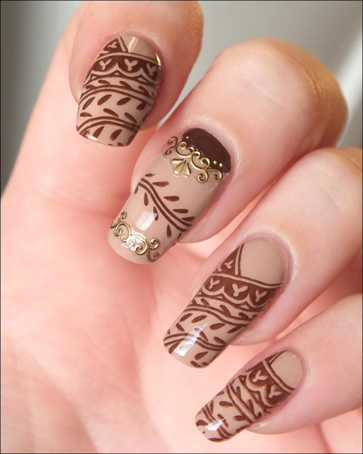 Mehndi Designs For Nails : Nail mehndi designs beautiful arts artsy to the core