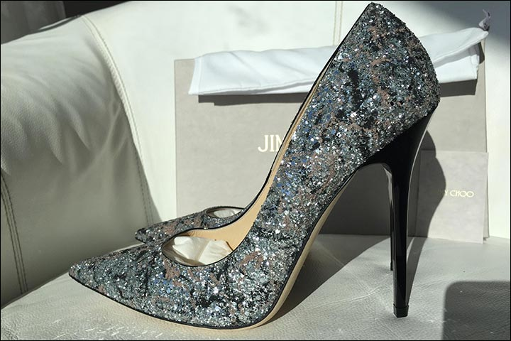 Colourful Bridal Shoes - Grey Blue Jimmy Choo Bridal Heels