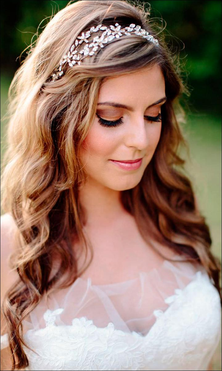 Bridal Hairstyles For Medium Hair - Headband Hairstyle