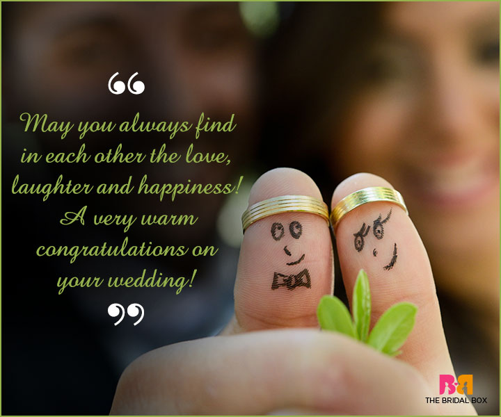 Marriage Wishes SMS - May You Always Find Love