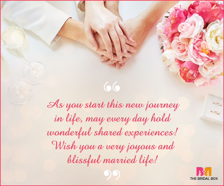 Marriage Wishes SMS - This New Journey