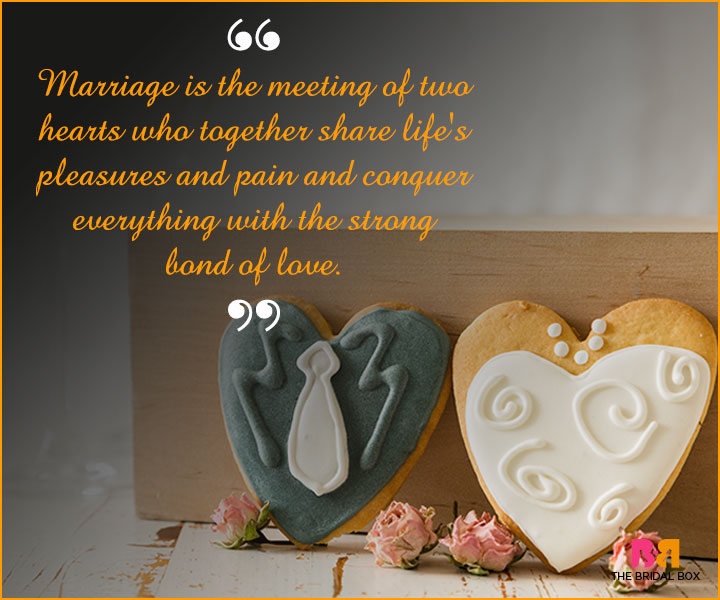 Marriage Wishes SMS - The Meeting Of Two Hearts
