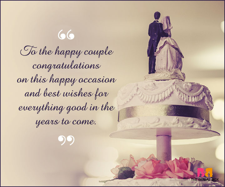 Marriage Wishes SMS - To The Happy Couple