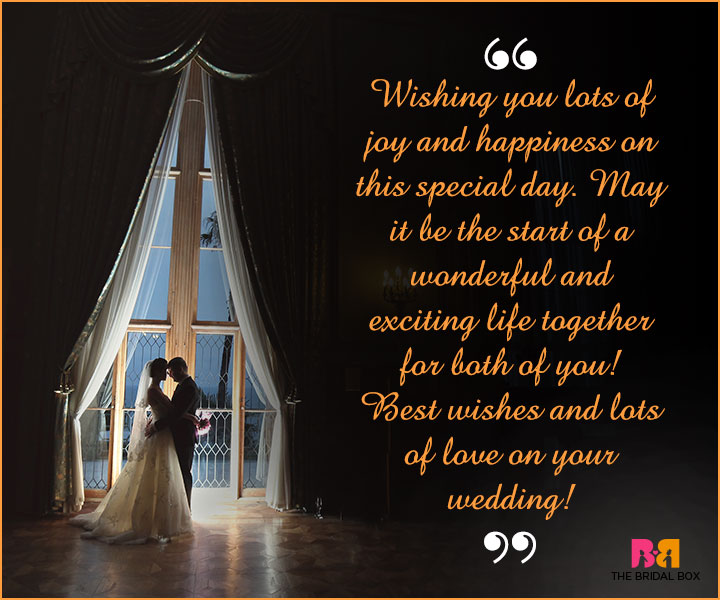 Marriage Wishes SMS - Joy And Happiness