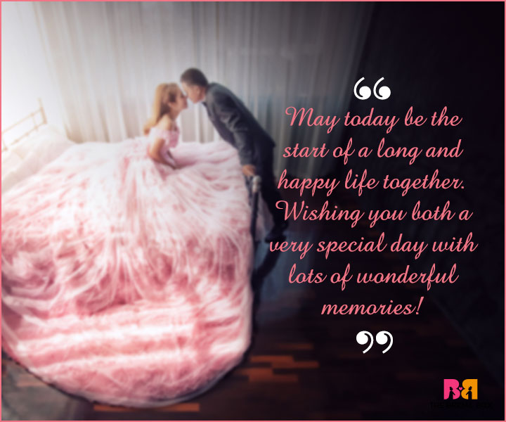 Marriage Wishes SMS   The Start Of A Long And Happy Life  Best Wishes In Life