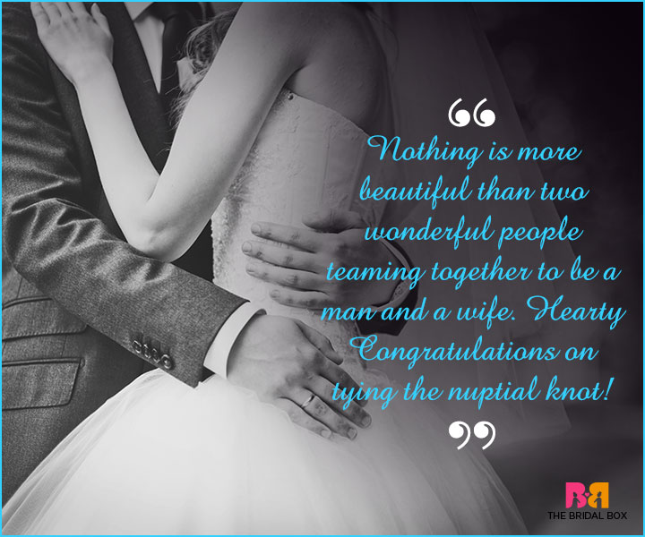 Marriage Wishes SMS - Man And Wife