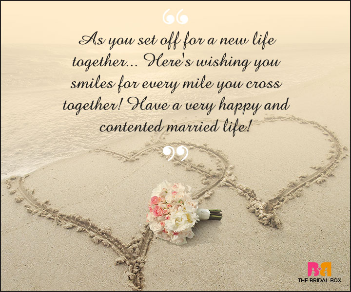 Marriage Wishes SMS - Smiles For Every Mile You Cross