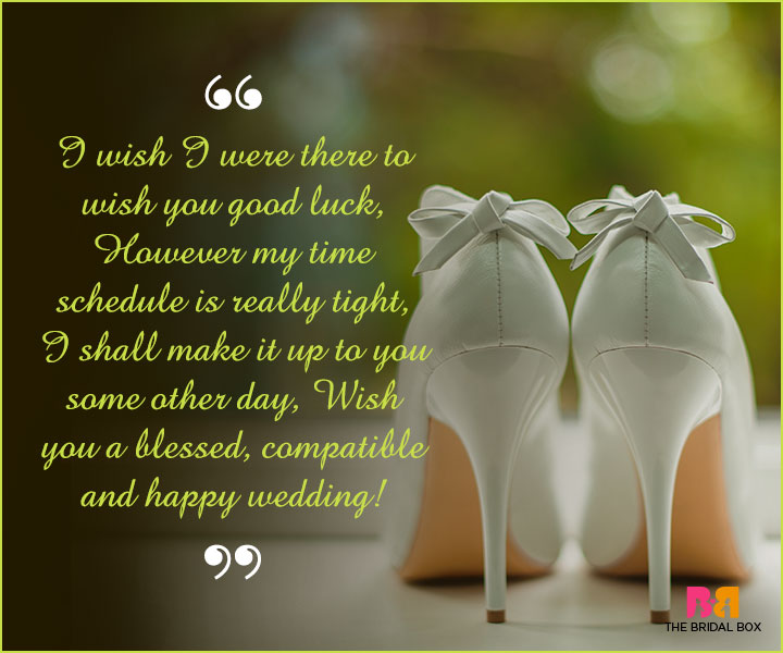 Marriage Wishes Sms I Wish Were There