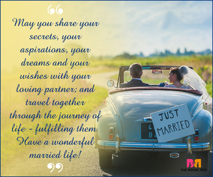 Marriage Wishes SMS - Secrets, Aspirations And Dreams