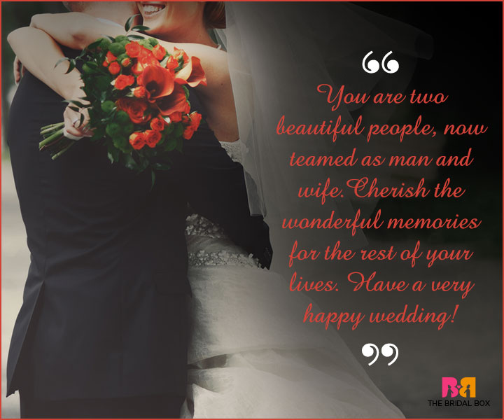Marriage Wishes SMS - Cherish The Wonderful Memories