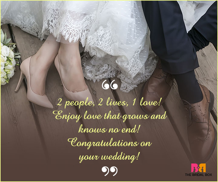 Marriage Wishes SMS - 2 People, 2 Lives, 1 Love