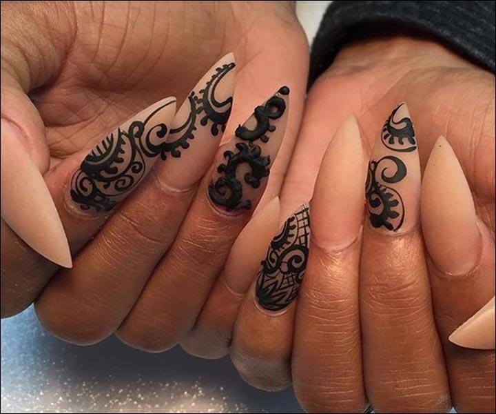 How Make Mehndi For Nails : Nail mehndi designs beautiful arts artsy to the core